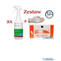 Zestaw 2x Velox Spray 1l oraz 100 sztuk rękawic w rozmiarze