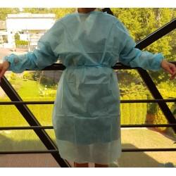 Fartuch Niebieski Jednorazowy 25g/m2 Medicom