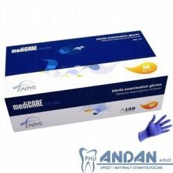Rękawice Nitrylowe MediCare 100sztuk S/M